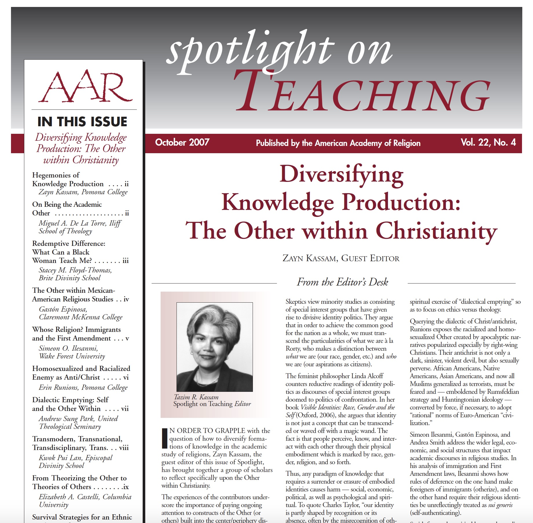 Diversifying the Curriculum Archives – Wabash Center