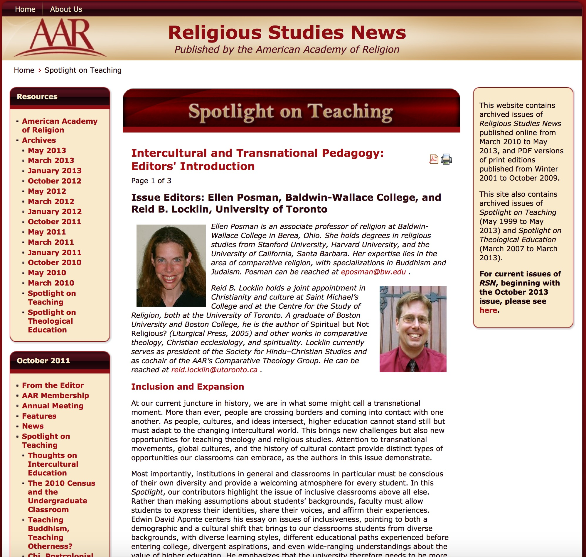 Teaching Religion Archives – Wabash Center