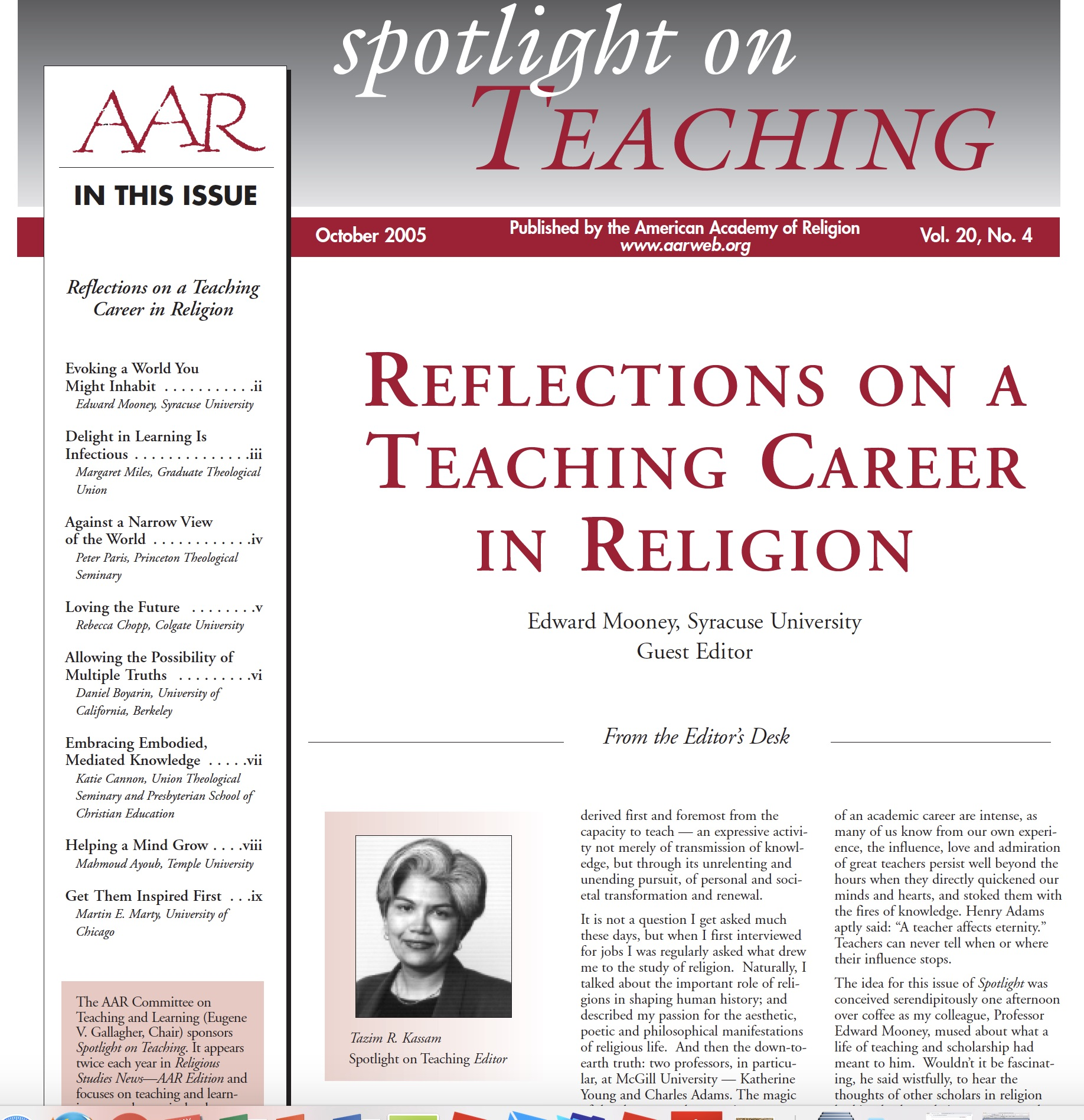 Vocation of Teaching Archives – Wabash Center
